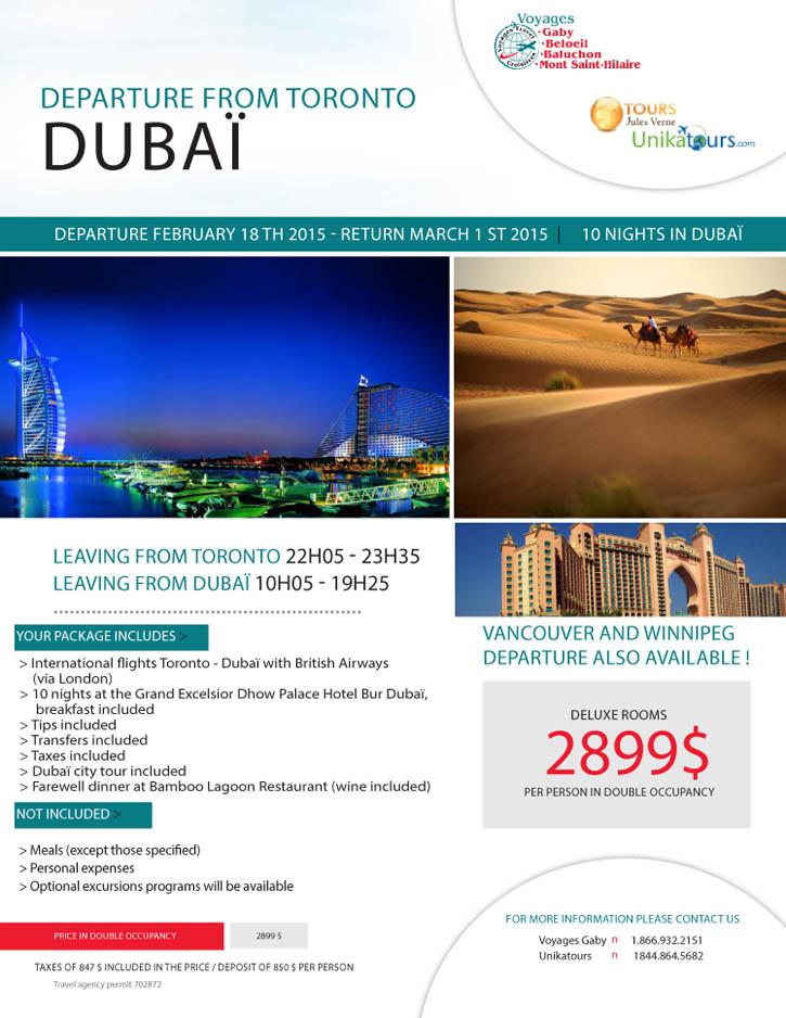 Dubai - 18 février - Anglais - Gaby